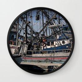 FISHING BOATS VISE A VERSA Wall Clock