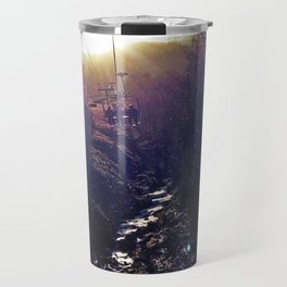 Chairlift on Sugarloaf Mountain in Carrabassett Valley, Maine Travel Mug