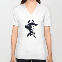 indiana jones V-neck T-shirts featuring Indiana Jones by Gavin Foster
