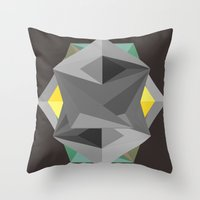 shield Throw Pillows featuring Shield by Tracy