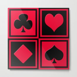 Playing card 2 Metal Print