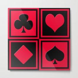 Playing card 2 Metal Print