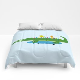 Crocodile and skateboard Comforters