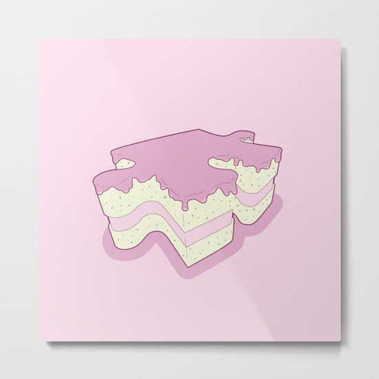 Piece of Cake Metal Print