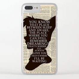 Peter Pan Over Vintage Dictionary Page - That Place Clear iPhone Case