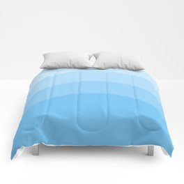 Four Shades of Tuquoise Curved Comforters