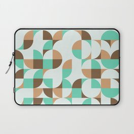 Mint and Chocolate Fresh Pattern Laptop Sleeve