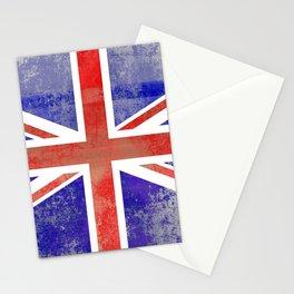 Grunge Union Jack Flag Stationery Cards