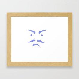 Le visage Framed Art Print
