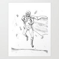 magneto Art Prints featuring Magneto by AJ Ryan
