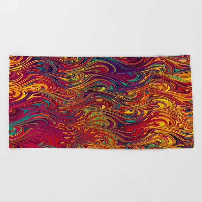 Wave Of Colors 2 Beach Towel