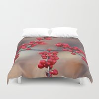 sparkles Duvet Covers featuring Berry Sparkles by BACK to THE ROOTS