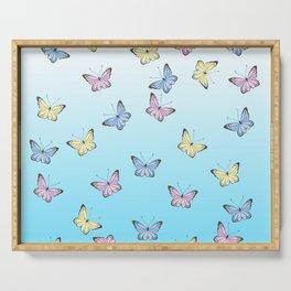 Rainbow Butteflies Serving Tray