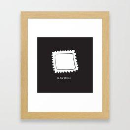 Pasta Series: Ravioli Framed Art Print