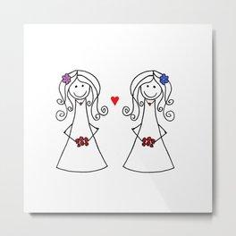 Two Brides Metal Print