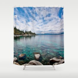 Tranquility Lake Tahoe Shower Curtain