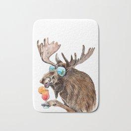 Moose on Vacation Bath Mat