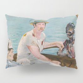 Boating on Crystal Lake: Manet Meets Friday the 13th Pillow Sham