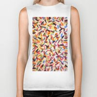 sprinkles Biker Tanks featuring Sprinkles by Rachel Butler