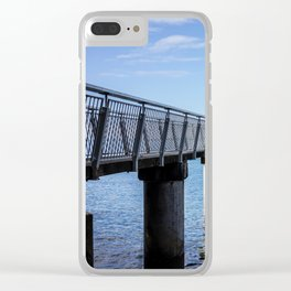 Fishing Pier Clear iPhone Case