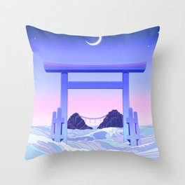 Floating World Throw Pillow