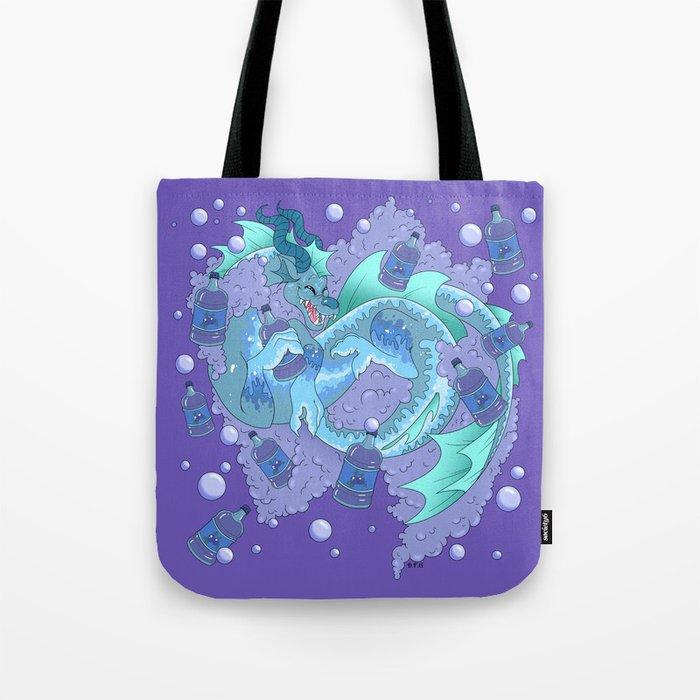 Blue Berry POP Dragon Tote Bag