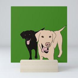 Tanner and Lily Best Labrador Buddies Mini Art Print