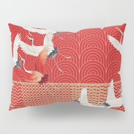 FLYING CRANES Pillow Sham