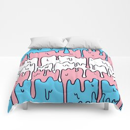 Pastel Kawaii Melting Trans Pride LGBTQ Design Comforters