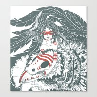 pocahontas Canvas Prints featuring Pocahontas by ItDrizzles