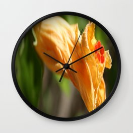 Yesterday's Flower Wall Clock