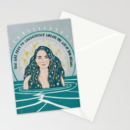 Create the life of your dreams Stationery Cards