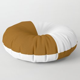 White and Chocolate Brown Vertical Halves Floor Pillow