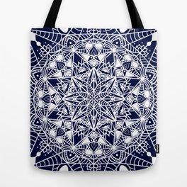 White Mandala Tote Bag
