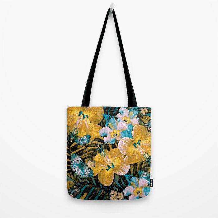Golden Vintage Aloha Tote Bag