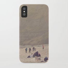 sandy sausages by the sea shore... iPhone Case