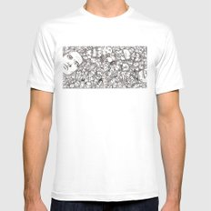 People-B White Mens Fitted Tee SMALL