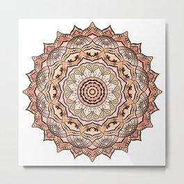 Sacral Chakra Mandala Metal Print