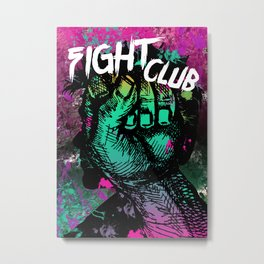 FightClub - Minimal Movie Art # 1 Metal Print