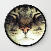meow Wall Clocks featuring Meow by BURNEDINTOMYHE∆RT♥