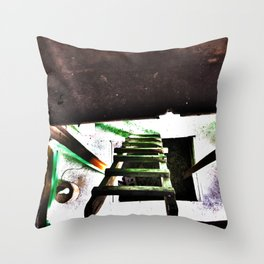 ladder going up or down Throw Pillow