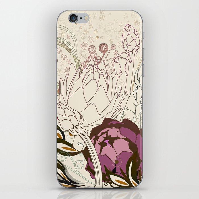 Peach and purple  artichoke iPhone Skin