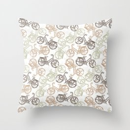 Vintage Bicycle Throw Pillow