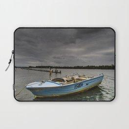 Little Boat Under the Big Storm Laptop Sleeve