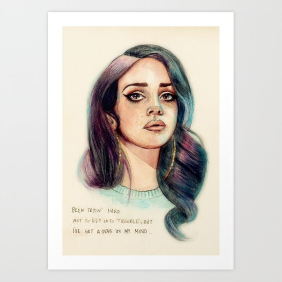 I've Got A War In My Mind Art Print