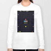 pac man Long Sleeve T-shirts featuring Pac Man by Trash Apparel