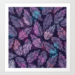 Colorful leaves II Art Print