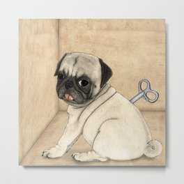 Toy dog; Pug Metal Print