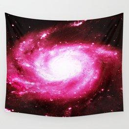 Galaxy Hot Pink Spiral Wall Tapestry