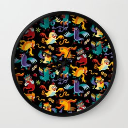Noisy Birds Wall Clock